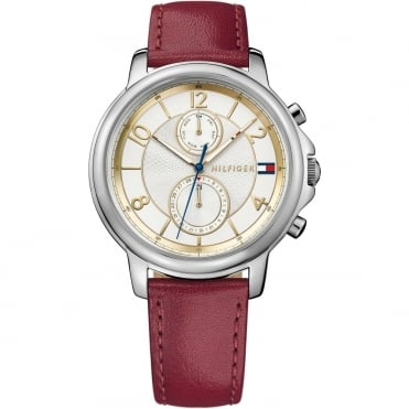 Ladies Burgundy Leather Strap Claudia Watch 1781816
