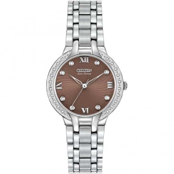 Ladies Chocolate Bella Diamonds Watch EM0120-58X