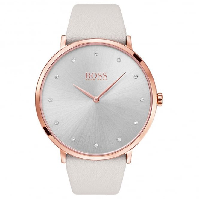 Ladies' Cream Leather Jillian Watch 1502412