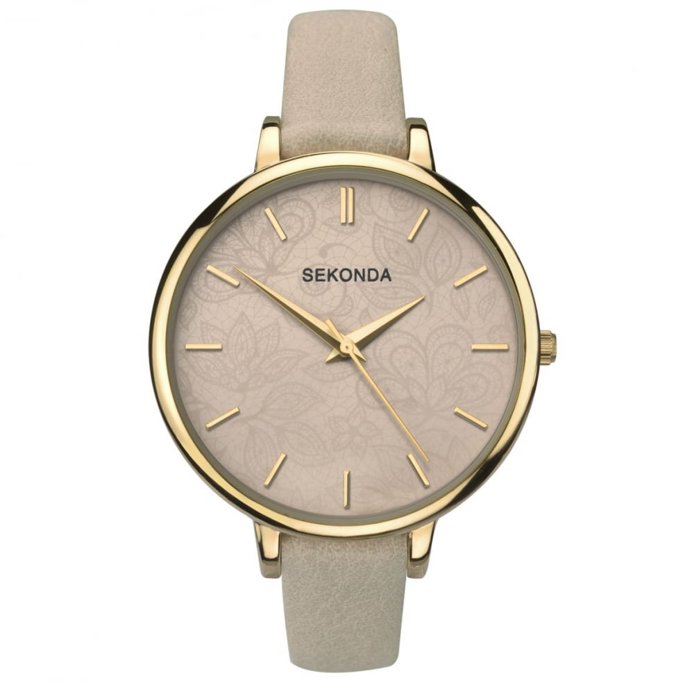 91a583e523e3a Ladies' Gold Plate Brown Strap Watch 2562 - Ladies Watches from ...