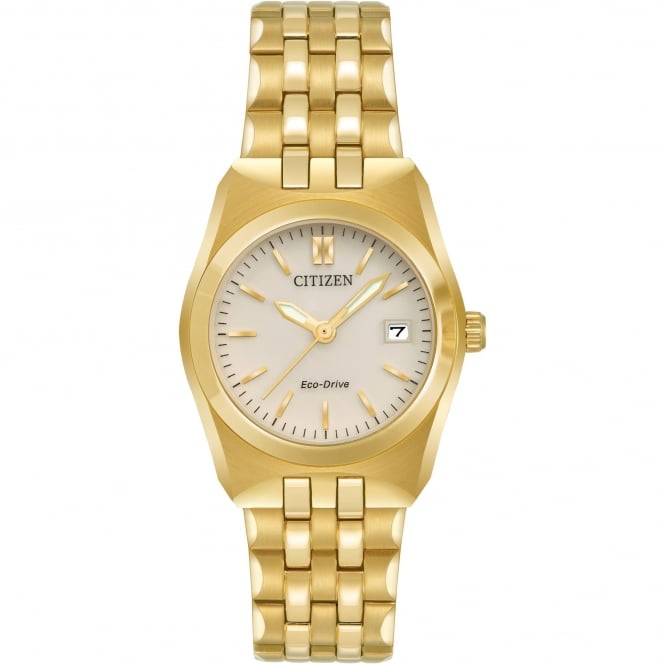 Ladies' Gold Plate Corso Eco-Drive Watch EW2292-59P