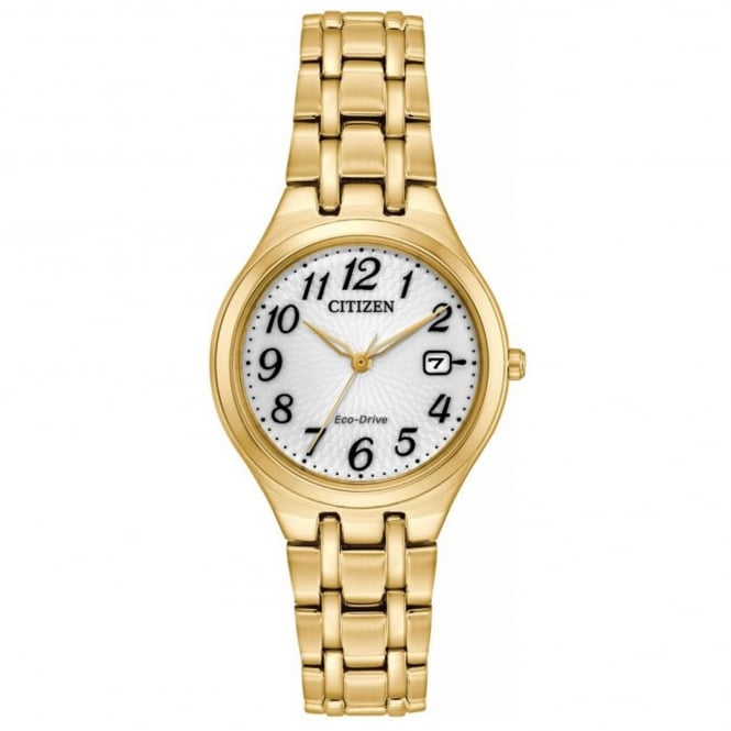 Ladies' Gold Plate Corso Eco-Drive Watch EW2482-53A