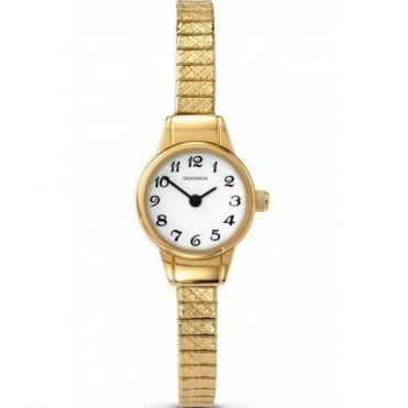 Ladies' Gold Plate Expanding Bracelet Watch 4474