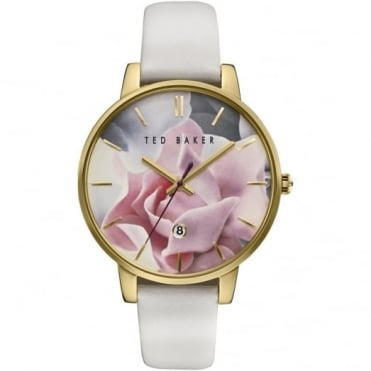Ted Baker Ladies' Gold Plate Floral Dial Watch TE10030691