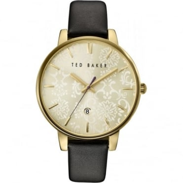 Ladies' Gold Plate Floral Dial Watch TE10030694