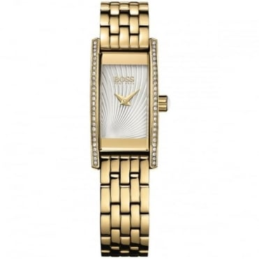 Ladies' Gold Plate Stone Set Cocktail Watch 1502384
