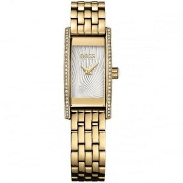 Hugo Boss Ladies' Gold Plate Stone Set Cocktail Watch 1502384