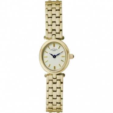 Rotary Ladies Gold Plate Watch LB02713/03
