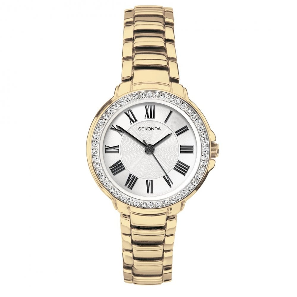 9a4201344b6 Ladies  Gold Plated Stone Set Watch 2778 - Watches from Hillier ...