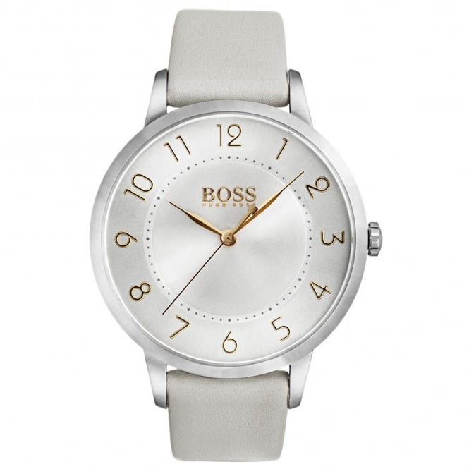 Ladies' Grey Leather Eclipse Watch 1502405
