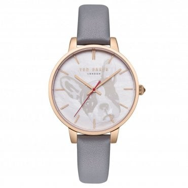 87728cd9d Ted Baker Ladies  Grey Leather Kate Watch TE50272012