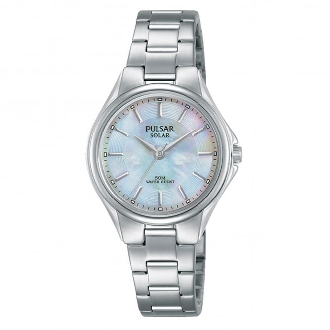 Ladies' Pulsar Stainless Steel Solar Watch PY5031X1