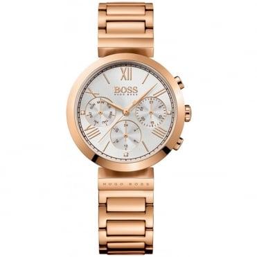 Hugo Boss Ladies' Rose Gold Plate Classic Sport Watch 1502399