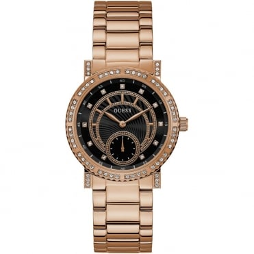 Ladies' Rose Gold Plate Constellation Watch W1006L2