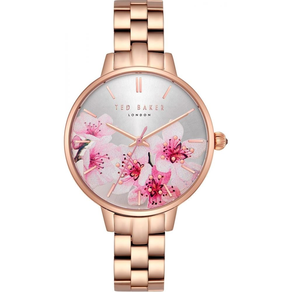 99eb8d2be Ladies  Rose Gold Plate Floral Dial Kate Watch TE50005004 - Watches ...