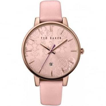 Ted Baker Ladies' Rose Gold Plate Floral Dial Watch TE10030693