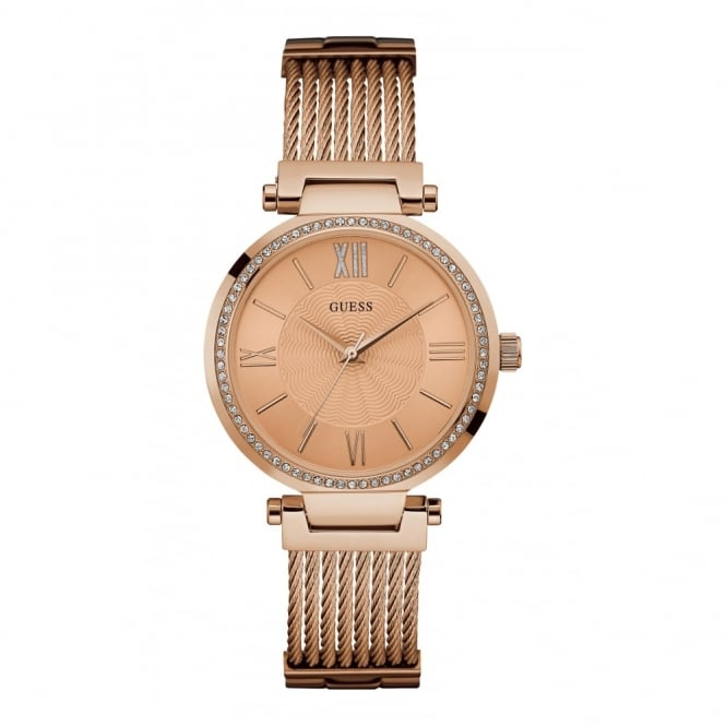 Ladies' Rose Gold Plate Stone Set Soho Watch W0638L4