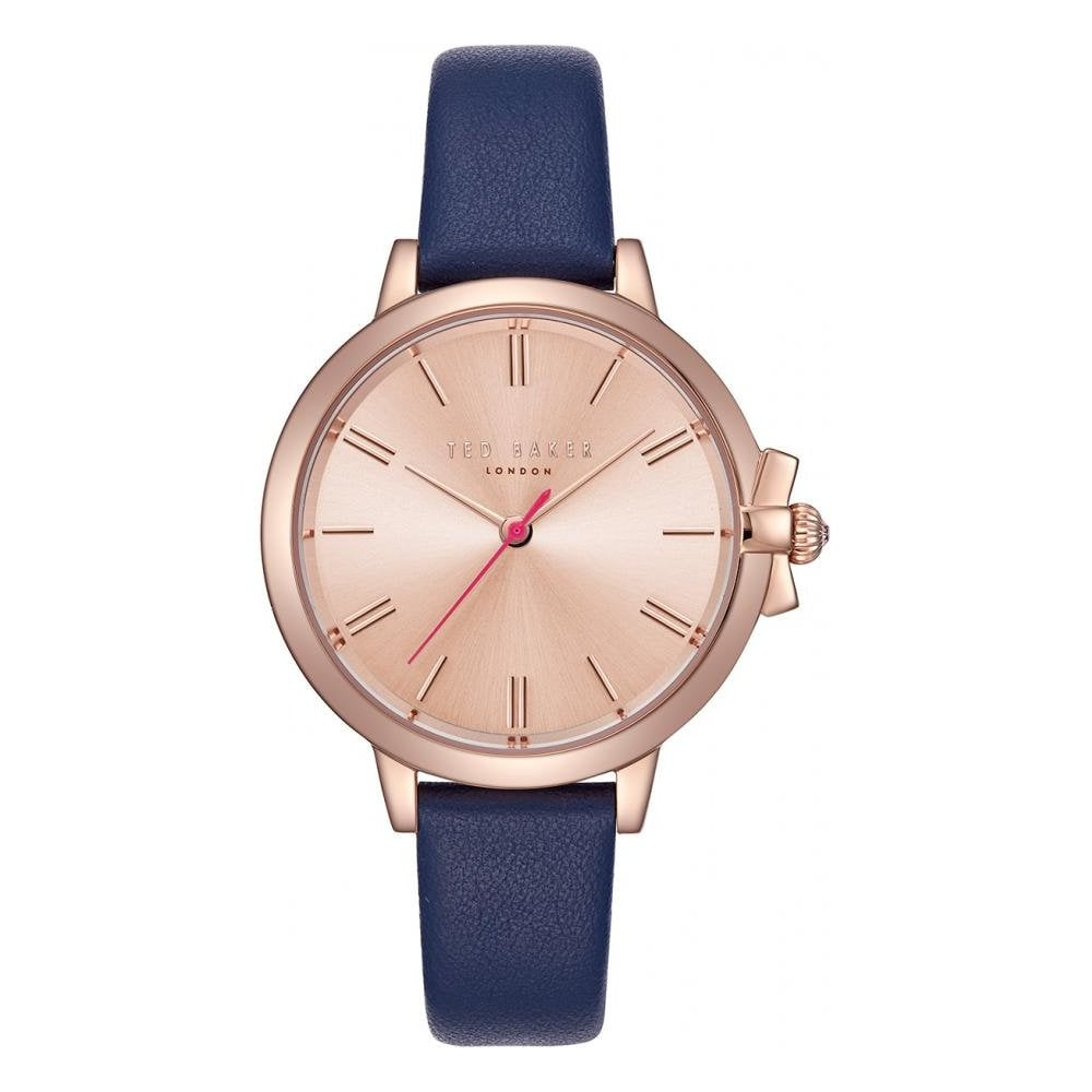e126af1f5 Ladies  Rose Gold Plated and Leather Ruth Watch TE50267004 - Watches ...
