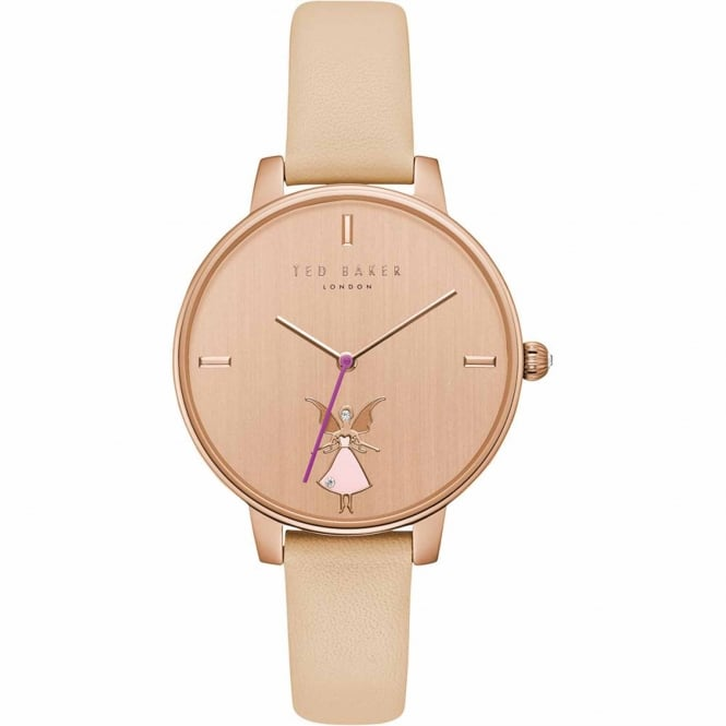 Ladies' Rose Gold Plated Pink Leather Kate Watch TE15162003