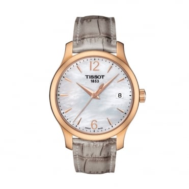 Ladies Rose Gold T-Classic Tradition Watch T0632103711700