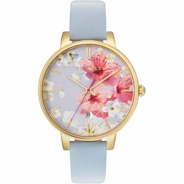 Ladies' Rose Plate Blue Leather Kate Watch TE10031546