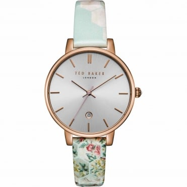 Ladies' Rose Plate Floral Print Kate Watch TEC0025003