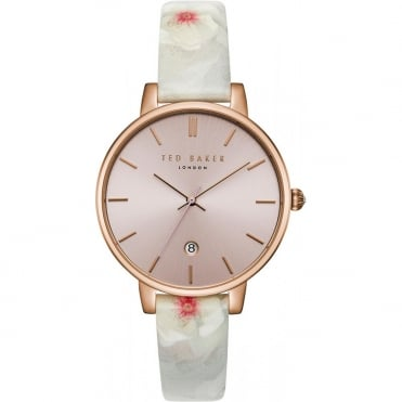 Ladies' Rose Plate Floral Print Kate Watch TEC0025004