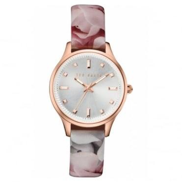 Ted Baker Ladies' Rose Plate Floral Print Watch TE10030741