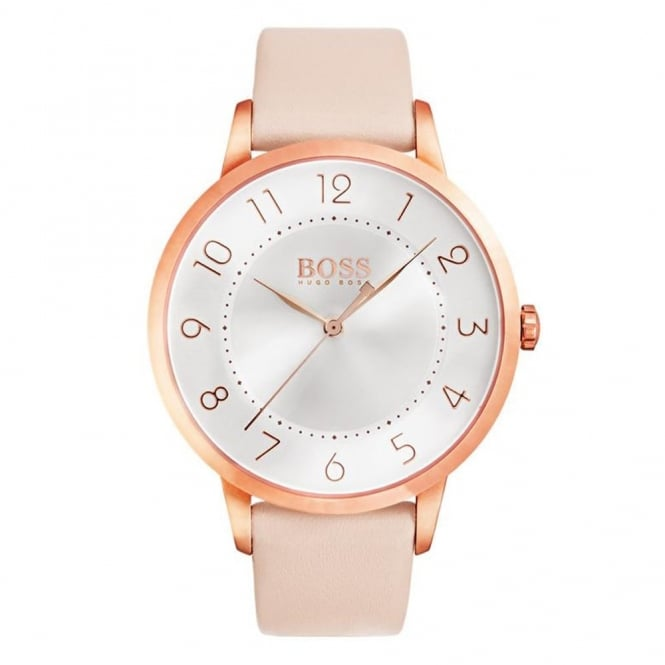 Hugo Boss Ladies' Rose Plate Pink Leather Eclipse Watch 1502407