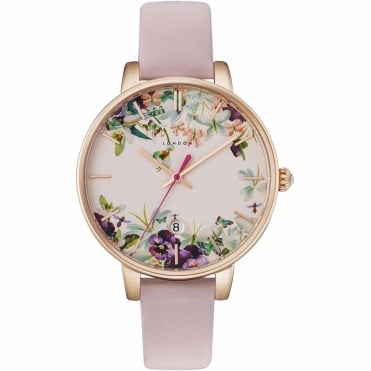 Ladies' Rose Plate Pink Leather Kate Watch TE10031550