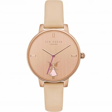 Ladies' Rose Plate Pink Leather Kate Watch TE15162003