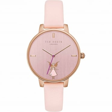 Ladies' Rose Plate Pink Leather Kate Watch TE15162004