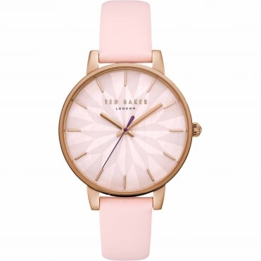 Ladies' Rose Plate Pink Leather Kate Watch TE15200001