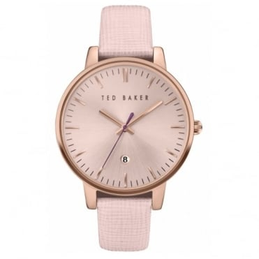 Ladies' Rose Plate Pink Leather Saffiano Watch TE10030737