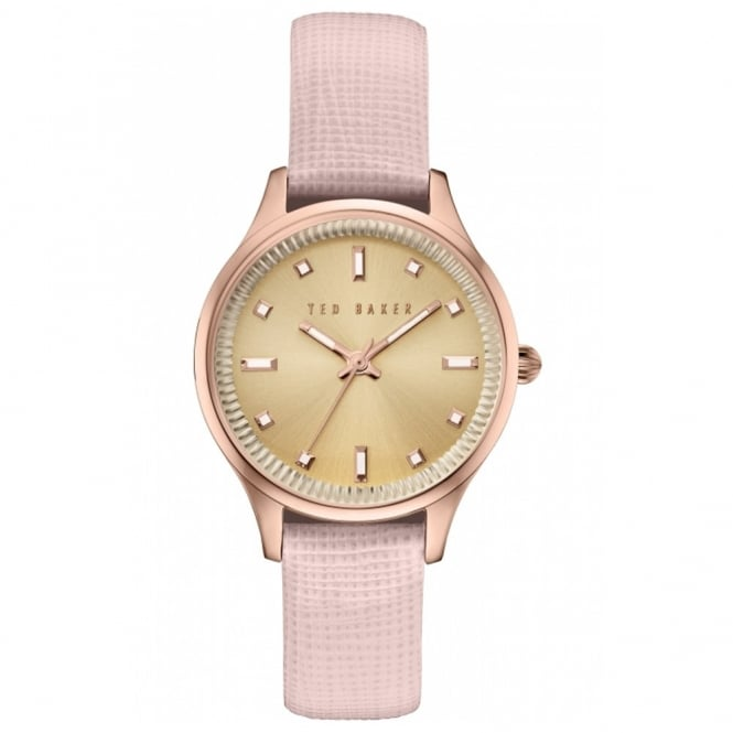 Ladies' Rose Plate Pink Leather Saffiano Watch TE10030743