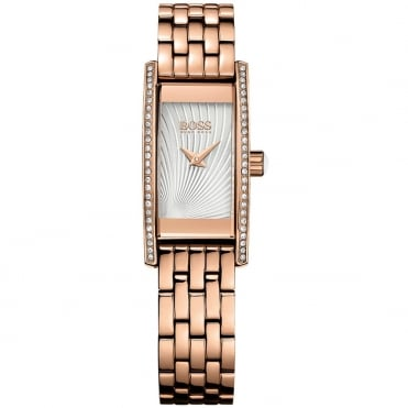 Hugo Boss Ladies' Rose Plate Stone Set Cocktail Watch 1502386