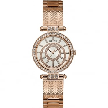 Ladies' Rose Plate Stone Set Muse Watch W1008L3