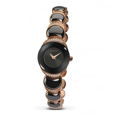 Ladies' Rose Plate Stone Set Sapphire Watch 2296