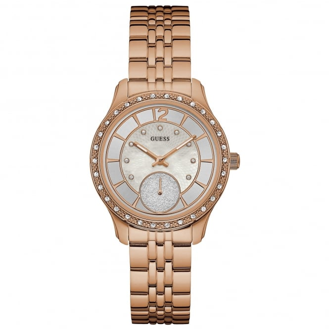 Ladies' Rose Plate Stone Set Whitney Watch W0931L3
