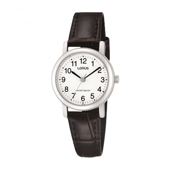 Ladies' S/Steel Brown Leather Watch RRS57UX9