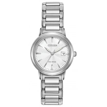 Ladies' S/Steel Eco-Drive EW2370-57A