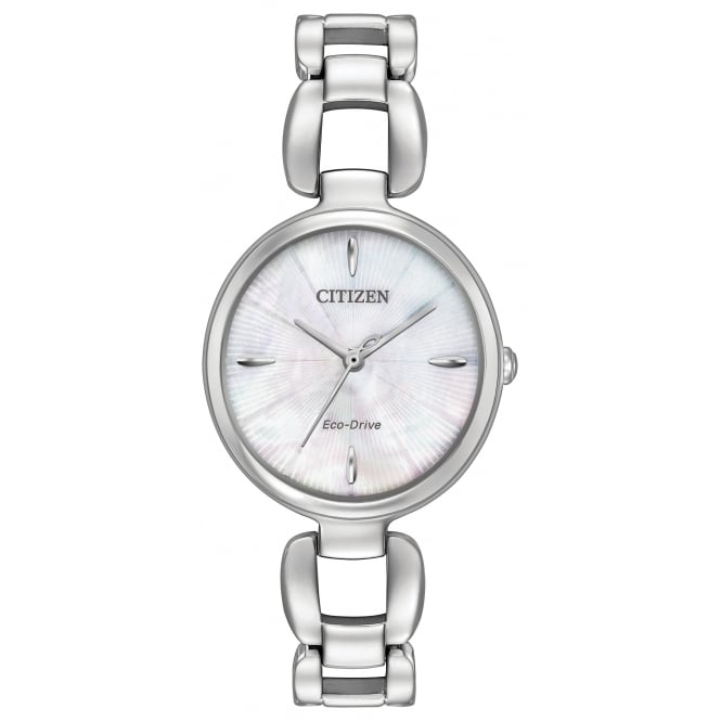 Ladies' S/Steel Eco-Drive Watch EM0420-54D