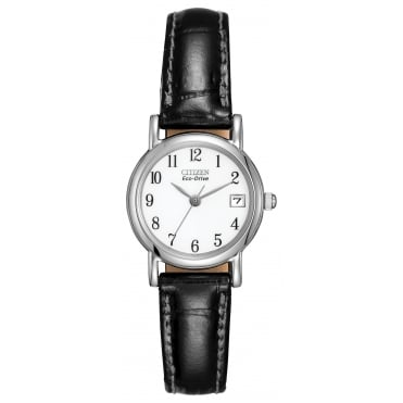 Ladies S/Steel Eco-Drive Watch EW1270-06A