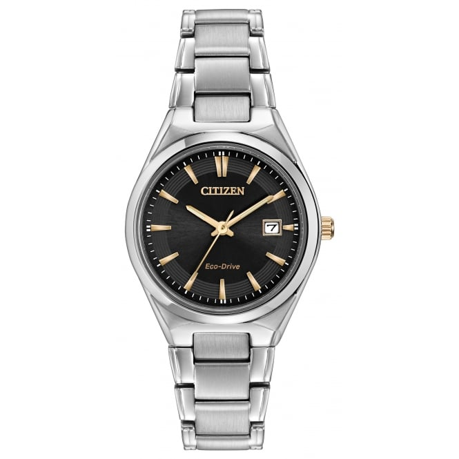Ladies S/Steel Eco-Drive Watch EW1970-55H