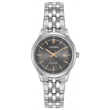 Ladies' S/Steel Eco-Drive Watch EW2400-58H