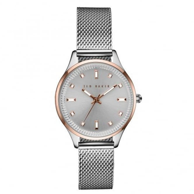 Ladies S/Steel & Rose Plate Watch TE10031190
