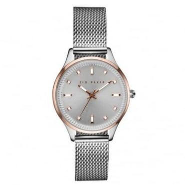 Ted Baker Ladies S/Steel & Rose Plate Watch TE10031190