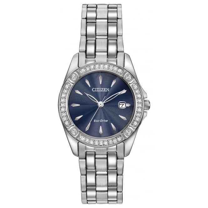 Citizen Ladies' S/Steel Silhouette Crystal Eco-Drive Watch EW2350-54L