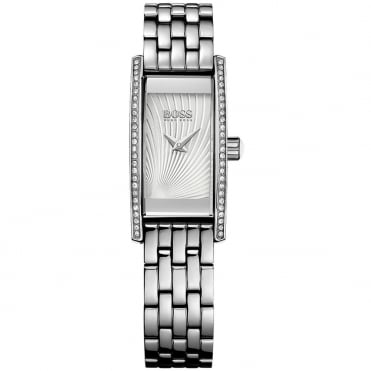 Ladies' S/Steel Stone Set Cocktail Watch 1502388