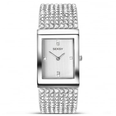 Ladies' S/Steel Stone Set Krystal Watch 2375